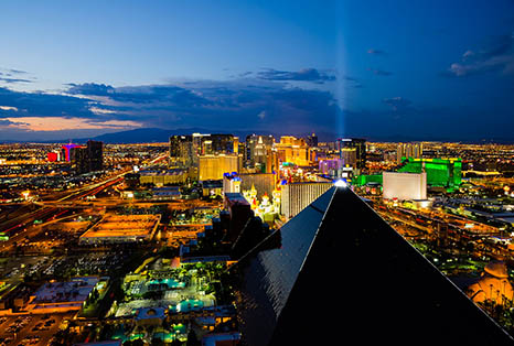 Las Vegas NV Cityscape At Night